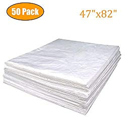 """METCRY Plastic Sheeting for Body Wrap Used Inside a Far Infrared Sauna Blanket 47""""x82"""" PVC (50 Pcs)"""
