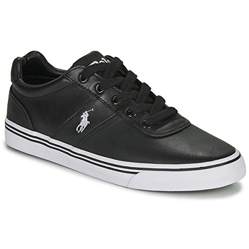 Ralph Lauren Polo, Hanford Leather Black, Sneaker da Uomo, 43