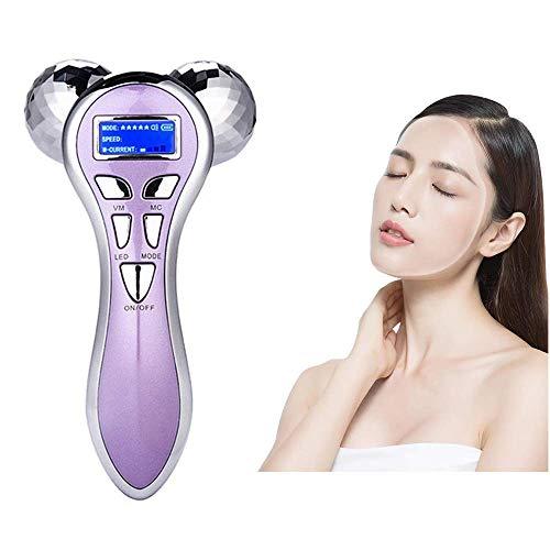ZNBLLH 4D Roller Massager Mikrostrom Pulsroller Beauty Instrument Multifunktions Lifting Straffung V Gesicht Instrument
