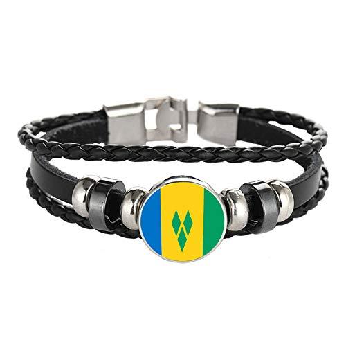 Nationale Vlag Stijl Armband Creatieve Sint Maarten Reizen Souvenir Gift Gepersonaliseerde Geweven Armband Accessoires Voor Mannen en Vrouwen