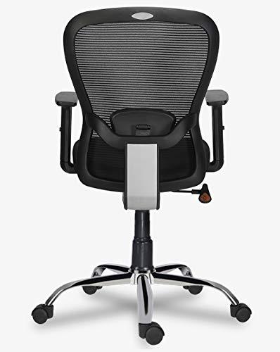 Green Soul Crystal Mid Back Chair (Black)
