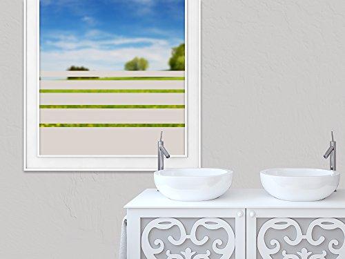 GRAZDesign Sichtschutzfolie Fensterfolie selbstklebend Streifen schmal dick, zur Dekoration und Sichtschutz, Blickdichte Glasdekorfolie / 150x57cm