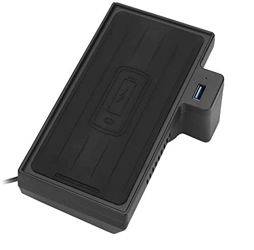 Drahtloses Ladegerät Car Wireless Charging Wireless Charger für X5, 15W Auto Car Wireless Charger Schnelles Aufladen des Handys Passend für X5 X6 F15 F16 2014-2019