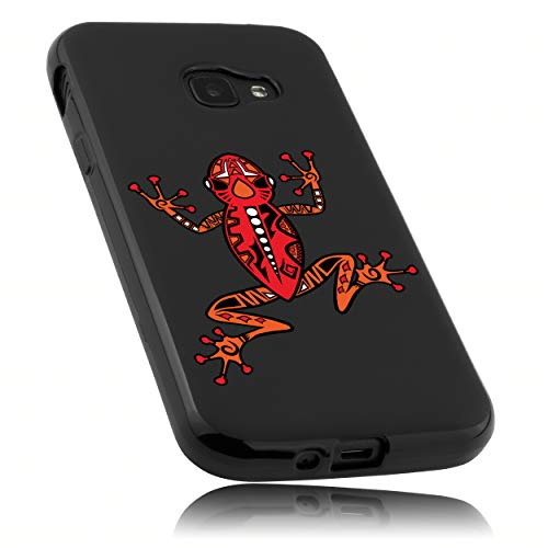 mumbi Hülle kompatibel mit Samsung Galaxy Xcover 4 / 4s Handy Hülle Handyhülle mit Motiv Frosch, schwarz