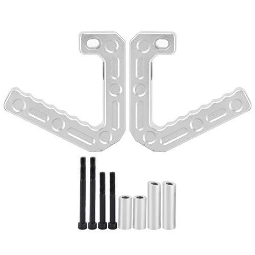 Hlyjoon Vorderer Haltegriff , Paar Lenker Innengriff Linker/rechter Aluminiumlegierungsersatz Dauerhafte Passform für Jeep Wrang-ler JK (Schwarz/Weiß)(Silber)