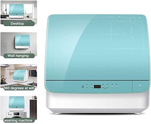 ZIJIAGE Haushalt Mini Geschirrspüler, vollautomatisch und Independent, 72 ° C Kontinuierliche Hochtemperatur-Kochen und Waschen, geringe Größe und hohe Kapazität, 3 Lagen Filter