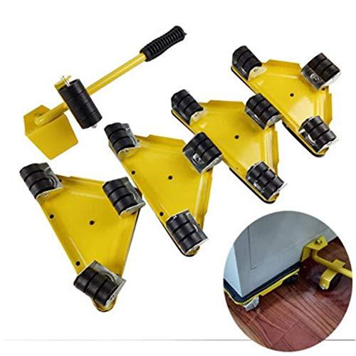 SuRose Möbel-Transport Set Tragbarer Gegenstand-Stoßschieber-Dreieckiger Eisen-Werkzeug-Satz Von 5 Haushaltsgeräten, Kühlschrank, Sofa Moving