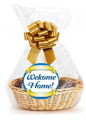 """Welcome Home 2Pack Designer Cello Bags/Tags/Bows Cellophane Gift Basket Packaging Bags Flat 18"""" x 30"""""""