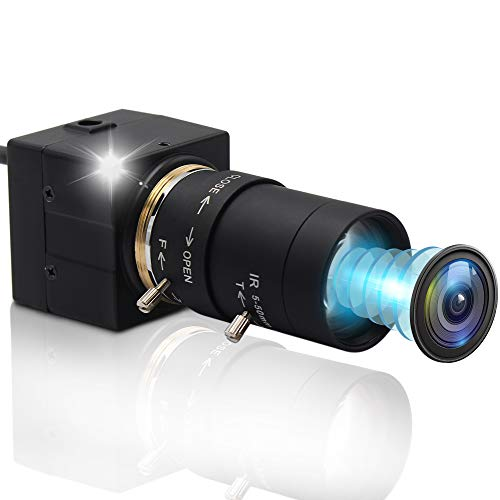 ALPCAM Webcam 8Megapixel 5-50mm Varifocal USB Camera,HD 2448P Optics Zoom Webcam with Sony IMX179 Sensor Camera,Focus Adjustable USB with Camera for Mac/Windows/Linux/Raspberry Pi