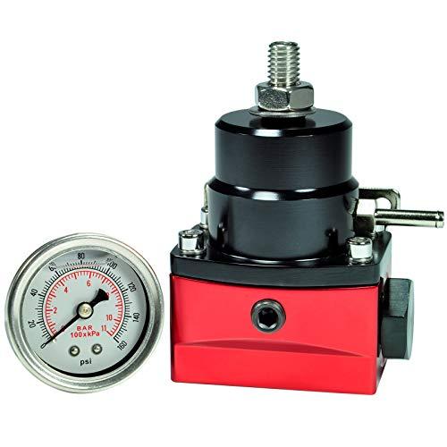 Regulador de presión de Gasolina Universal AN6 Ajustable de 2,75 a 5 Bar con manómetro.