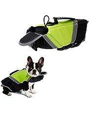 Tineer Chaleco Salvavidas de Dog Life con Relleno Extra de Seguridad Protector de Traje de baño Reflectante para Perros pequeños, medianos, Grandes Seguridad en la Piscina, en la Playa (L, Verde)