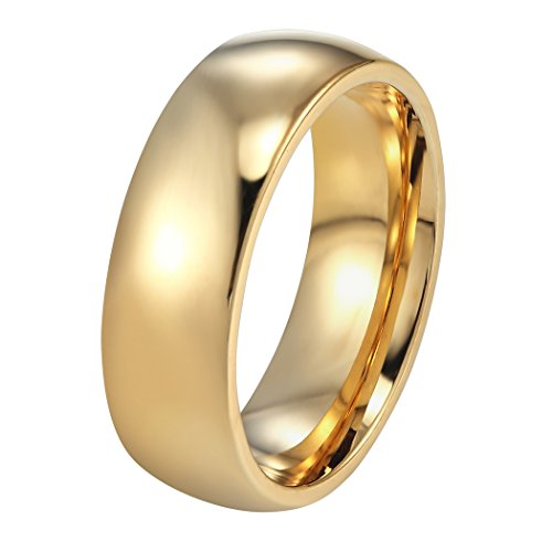 PROSTEEL Gold Wedding Rings for Women Gift Engagement Band Rings