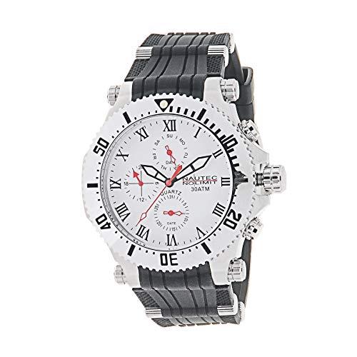 Nautec No Limit Herren Multi Zifferblatt Quarz Uhr mit PU Armband STKG2-QZ-RB-STST-WH