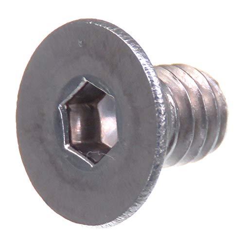 Tornillo avellanado SECCARO M4 x 6 mm, acero inoxidable V2A VA A2, DIN 7991 / ISO 10642, hexágono interior, 20 piezas