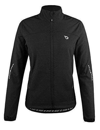 BALEAF Women's Windproof Thermal Softshell Cycling Running Winter Jacket Biking Cold Weather Waterproof Warm Black Size S