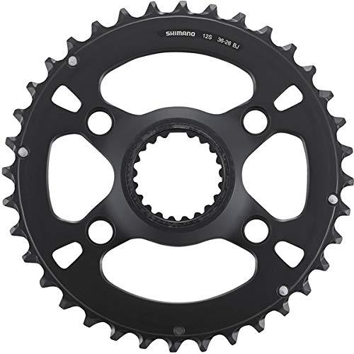 Shimano SLX FC-M710012S - Plato de bicicleta (80 mm, 36T, acero inoxidable), color negro