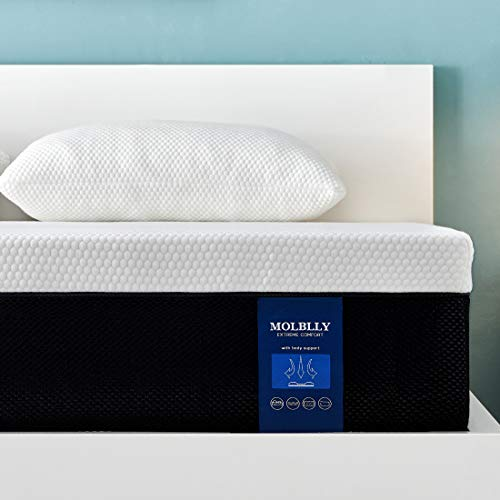 Molblly Matratze für Super-Kingsize-Betten, Memory-Foam-Matratze, atmungsaktive Matratze, mittelfest, mit weichem Stoff, feuerfester Barriere, hautfreundlich, langlebig, 180 x 200 x 20 cm