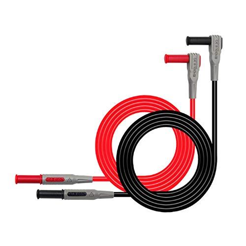 GUANGHEYUAN-J Inyección Cable de Prueba del multímetro Moldeado 4 mm plátano línea de Prueba del Enchufe Recto al Cable de Prueba Curvas, Bastante precisa