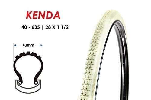 28 Zoll Kenda 40-635 Fahrrad Hollandrad City Reifen 28x1 1/2 Mantel Tire Creme