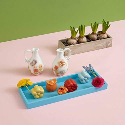 THUN - Set Sale e Pepe sagomati Country - Porcellana - a Forma di Primula e Margherita - Pepe 5,5 x 5 x 5,5 cm h; Sale 5,5 x 4 x 5,5 cm h