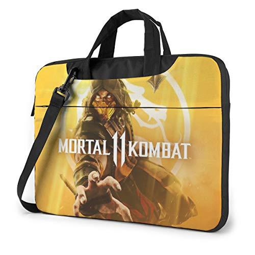 Briefcase Durable Laptop Bag 13 14 15.6 Inch Adjustable Shoulder Strap (15.6 inch, Black)