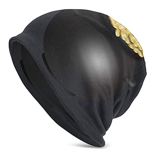 IUBBKI Caldero de monedas de oro mantiene caliente en otoño e invierno sombrero de punto adulto
