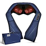 Naipo Shiatsu Back and Neck Massager with Heat Deep Kneading Massage for Neck, Back, Shoulder, Foot and Legs, Use at Home, Car, Office Gift for Women, Friends, Mom