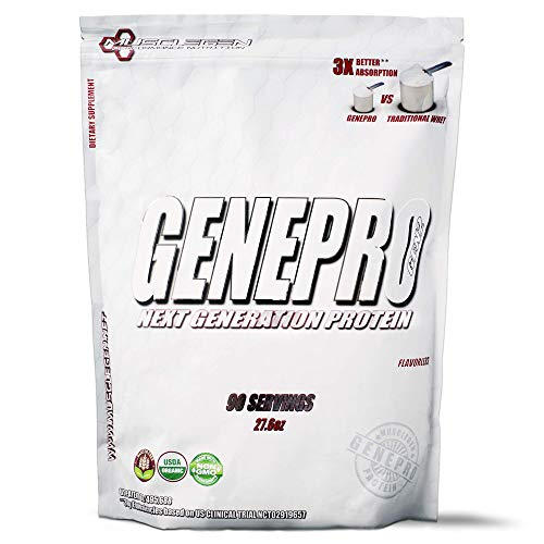 GENEPRO Protein: 90 Servings, Premium Low Calorie Protein for Absorption, Muscle Growth and Mix-Ability