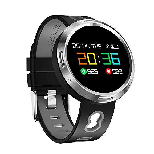 Ningz0l Fitness Tracker Smart Armband Horloge Bloeddruk Hartslag Monitoring Waterdichte Oled Kleur Scherm Ronde Scherm Sport Armband Grijs