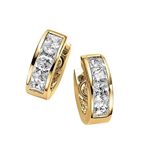 Magnet Ohr Creolen gold mit Swarovski Crystals Energetix 4you 833P 24K vergoldet medizinischer Edelstahl nickelfrei allergiefrei Magnetix 1808P