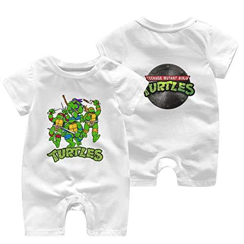 Mutant-Ninja Turtles Logo Newborn Baby Shortsleeve Body Suits Cotton Jumpsuit White 12 Months
