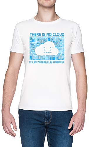 There Is No Cloud Blanca Hombre Camiseta Tamaño S White Men's tee Size S