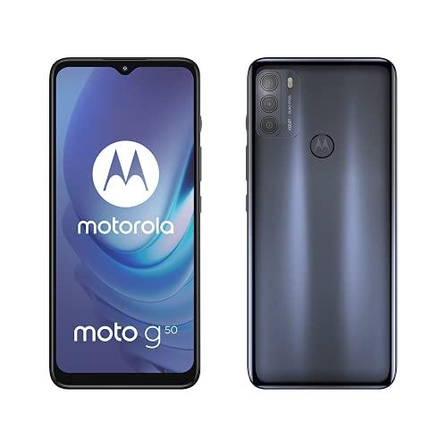 Motorola G50 – Débit 5G – Ecran 6,5'' HD+ 90Hz – système 48MP triple camera – Batterie 5000 mAh – 64Go