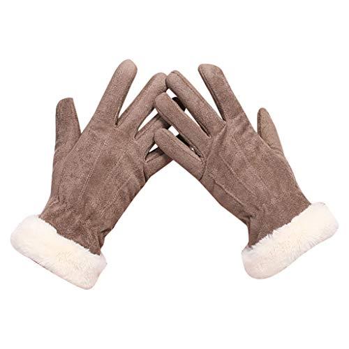 Riou Damen Winterhandschuhe Gefüttert Touchscreen Handschuhe Outdoor Wasserdichte Winddichte Rutschfest Stretch Elegant Thermohandschuhe