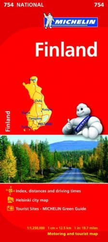 Finland - Michelin National Map 754