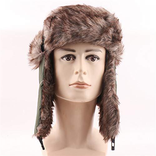 JLCSM Tapas de esquí de Invierno para Adultos Unisex Tapa de Oreja al Aire Libre Cara cálida Sombrero Bomber Tapa Bomber, Nuevo Sombrero de la Moda tropor