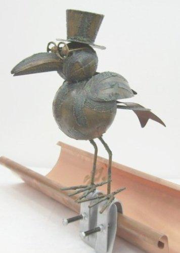 Unbekannt Rabe Metall 30 cm Dachschmuck Dachrinne Dachrinnenfigur Dachfigur Rinnenfigur