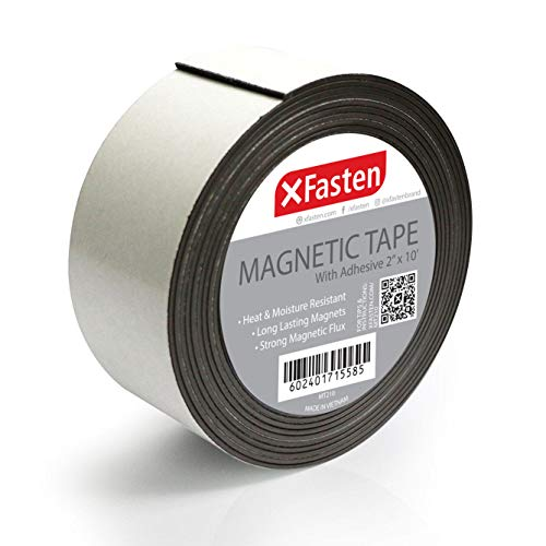 XFasten Flexible Strong Magnetic Tape, 2-Inch x 10-Foot