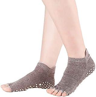 CUSHY Professional Open Half Toe Yoga Socks Cotton Anti-Friction Sport Socks Dots Anti-Slip Yoga Socks Fitness Pilate Dance: