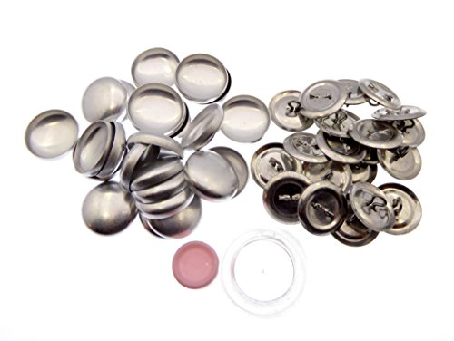 XieXie 50 Stück Knopfrohlinge mit Öse Ø 19mm mit Tool