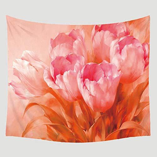AdoDecor Flor Planta Impreso Manta Colgante de Pared Decoración del hogar Mobiliario Viaje Picnic Playa Yoga Mantón Camping Tapiz Bohemio 150x130CM