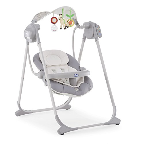 Chicco Altalena Polly Swing Up, 0 m+, Argento