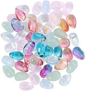 Happyyami 100 Piezas de Cuentas de Cristal con Forma de Lágrima Colgantes de Cristal con Forma de Lágrima para Hacer Joyas DIY (Colores Variados)