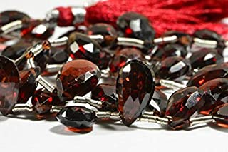 Jewel Beads Natural Beautiful jewellery Garnet Faceted 2 Beads Natural Gemstone Beads Jewelry Making Supplies 11x8x5mm to 10.5x7.7x5mmCode:- JBB-18157