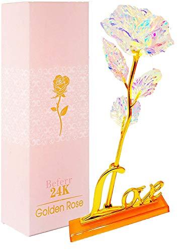 Blumen Muttertag Muttertagsgeschenk Ewige Rose mit Box für Frauen Valentinstag Hochzeit Geburtstag Deko