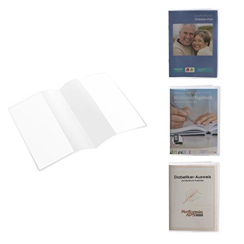 Ausweishülle und Schutzhülle für DIN A6 doppelseitig z.B. für Diabetiker Ausweis und Blutzucker Tagebuch