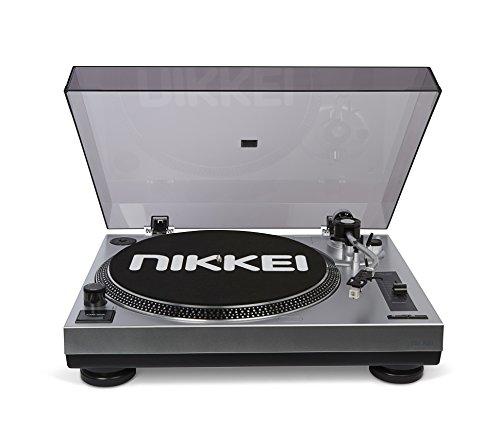 Nikkei NTT15U | DJ-Plattenspieler | 33/45 U/min | Pitch-Control | Direct drive | Direct encoding | USB | Audio technica element | Nadelbeleuchtung | Vorverstärker | Stroboskop | Aluminium Plattenteller | Schwarz