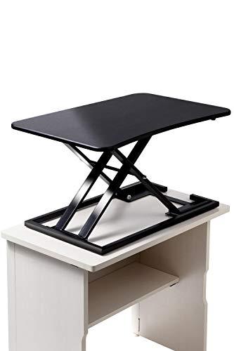 【健幸LAB】スタンディングデスク 昇降式 テーブル ガス圧 組み立て不要 テレワークに最適