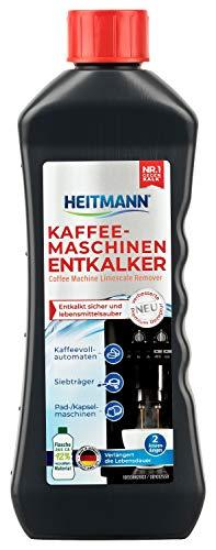 HEITMANN Kaffeemaschinen-Entkalker 250 ml - zwei Anwendungen - für Kaffeevollautomaten, Siebträger, Pad- und Kapselmaschinen