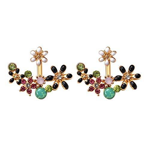 N-K Pulabo - Pendientes de aro con diamantes de imitación para el tiempo, pastoral, accesorios de joyería, creativos y útiles, hermosos y hermosos